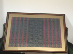 VINTAGE HANDWOVEN REAL SILK TAPESTRY FOR SALE