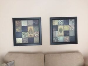 2 FRAMED PICTURES/WALL ART