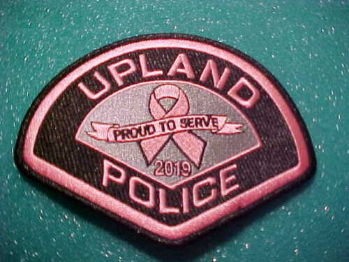 UPLAND CALIFORNIA BREAST CANCER POLICE PATCH SHOULDER SIZE UNUSED PINK