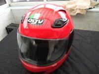 AGV Helmet, red unmarked condition, medium size £25.