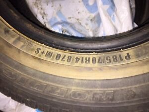 USED WINTER TIRES-Honda Civic-used one winter