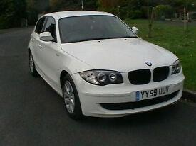 2010 59 REG BMW 116 2.0TD ES DIESEL 5 DOOR HATCHBACK IN WHITE HPI CLEAR