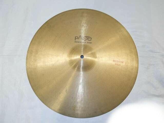 "PAiSTe Formula 602 18"" Medium Ride Trade Mark Vintage Cymbal Serial No. 605292"