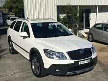 2011 Skoda Octavia 1Z MY11 Scout 103 TDI Premium White 6 Speed Direct Shift Wagon North Gosford Gosford Area Preview
