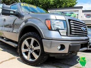 '11 Ford F-150 FX4+NAV+4X4+Sony+Supercrew+Roof+MINT! $199/Pmts!