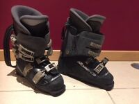 Pair of Black Nordica ski boots size 25.5