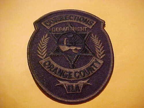 ORANGE COUNTY FLORIDA CORRECTIONS POLICE PATCH SHOULDER SIZE UNUSED O.D.