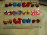 12 Pairs of Earrings Ice sream rainbow lollipop and more