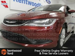 2015 Chrysler 200 LX in gem red with push start/stop