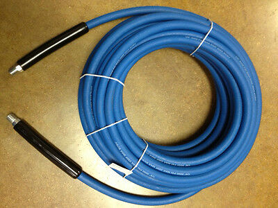 "100' CARPET CLEANING HIGH PRESSURE SOLUTION HOSE 1/4"" BLUE NEW 3000 PSI"