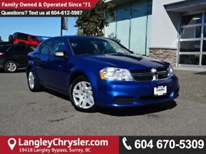 2012 Dodge Avenger *ACCIDENT FREE*ONE OWNER*LOCAL BC CAR*