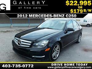 2012 Mercedes C250 4Matic $179 bi-weekly APPLY NOW DRIVE NOW