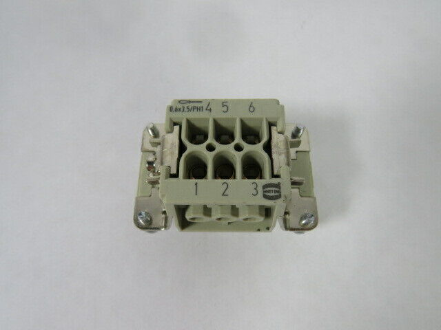 Harting 09330062701 Female Insert Connector 16A 500V  USED