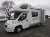 2008 SWIFT ACE MILANO 5 BERTH MOTORHOME WITH LOW MILES AND FULL YEARS MOT MOTORHOME SALES