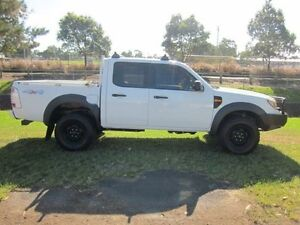 2009 Ford Ranger PJ 07 Upgrade XL (4x4) White 5 Speed Manual Dual Cab Pick-up Mayfield East Newcastle Area Preview