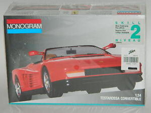 Monogram 1/24 Testarossa Convertible Plastic Model Kit 2782