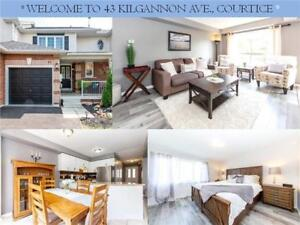 3 Bed / 2 Bath Freehold & Spacious Townhouse For Sale!!