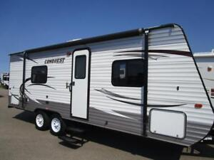 2014 CONQUEST 24 RBL  - USED TRAILER - GREAT SHAPE- GREAT PRICE