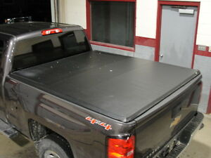 "Soft Tri-fold Tonneau Cover for 2014-18 6'6"" Chevrolet truck box"