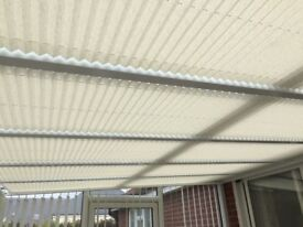 6 CONSERVATORY PLEATED ROOF BLINDS