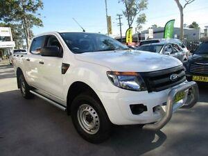 2013 Ford Ranger PX XL White Auto Sports Mode 4D UTILITY North Parramatta Parramatta Area Preview