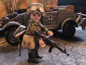 PLAYMOBIL-CUSTOM-SOLDADO-WAFFEN-GRENADIER-ANZIO-1944-REF-0527-BIS