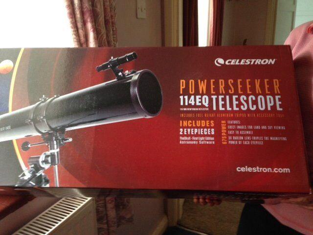 Celestron powerseeker telescope 114eq never used never taken out