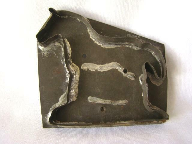 Antique Primitive Soldered Tin STANDING HORSE Cookie Cutter, Hand Made