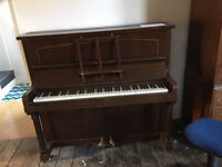 Piano- Joseph Riley- upright- Good sound. Free for collection