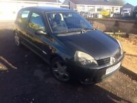 clio sport mot just up but need to sell to buy van great run around