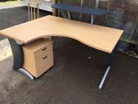 1600 beech radial corner office desk delivered to Belfast