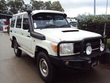 2011 Toyota Landcruiser VDJ76R MY10 Workmate White 5 Speed Manual Wagon Acacia Ridge Brisbane South West Preview