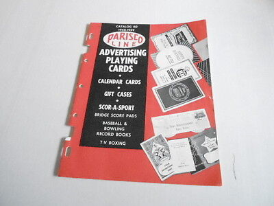 1958 VINTAGE CATALOG #2030 - PARISCO PLAYING CARDS
