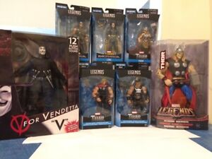 V FOR VENDETTA AND THOR COLLECTIBLES ACTION FIGURES