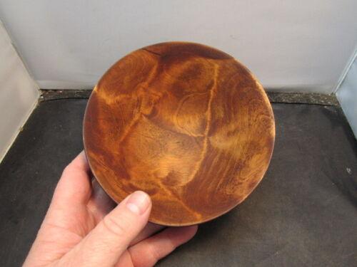 carved wood bowl signed