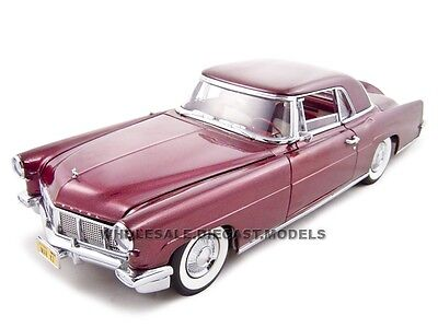 - 1956 LINCOLN CONTINENTAL MARK 2 BURGUNDY 1:18 DIECAST BY ROAD SIGNATURE 20078