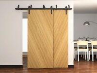 Barn door hardware for closets - bypass systems