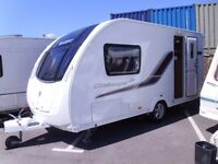 2013 Swift Challenger 480 inc a Motor Mover 2 Berth Touring Caravan.