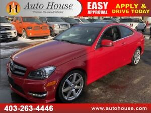2014 MERCEDES C350 COUPE 4MATIC AMG PKG NAVI B CAM PANO ROOF