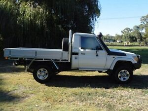 2012 Toyota Landcruiser VDJ79R MY10 GXL White 5 Speed Manual Cab Chassis Mount Barker Mount Barker Area Preview