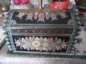 Beautiful Large Hand Painted Wooden Box From Portugal