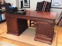 mahogany finish desk.