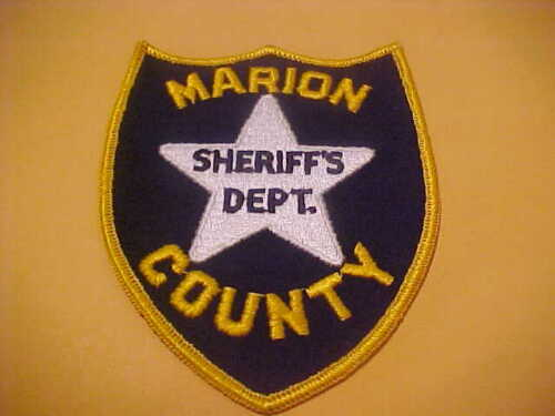 MARION COUNTY KANSAS POLICE PATCH SHOULDER SIZE UNUSED TYPE 1