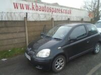 breaking for spares toyota yaris 1.3 p 2004