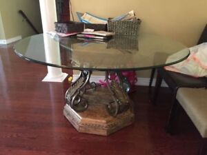 GLASS KITCHEN TABLE DINING TABLE