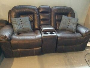 Leo Leather Loveseat & Couch