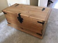 Corona Blanket Box / Trunk Solid Mexican Pine - Used, excellent condition, £25 ONO