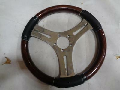 "1 NEW VICTOR BOAT STEERING WHEEL WOOD GRAIN 13-1/4"" 07142 I3"