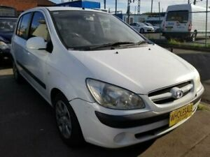 2006 Hyundai Getz TB Upgrade 1.4 White 4 Speed Automatic Hatchback Granville Parramatta Area Preview