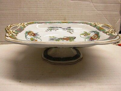 ANTIQUE COPELAND SPODE FOOTED FANCY COMPOTE FRUIT BOWL
